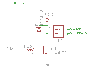 CEM-1203 buzzer connection schematic