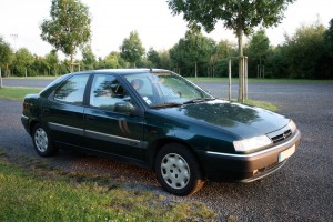 My previous car: a green Citroen Xantia