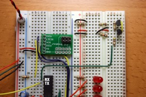 Connection of level shifter to ATMEGA168 serial input