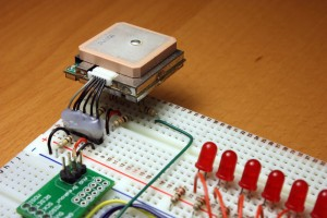 EM406-A GPS connection on level shifter to ATMEGA168 serial input