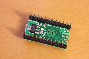 Teensy 2.0 ATMEGA32U4 bottom with 3.3V regulator soldered